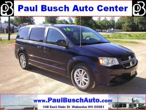 2016 Dodge Grand Caravan for sale at Paul Busch Auto Center Inc in Wabasha MN