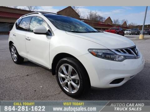 2012 Nissan Murano for sale at Auto Q Car and Truck Sales in Mauldin SC