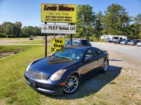 2004 Infiniti G35 for sale at Lewis Motors LLC in Deridder LA