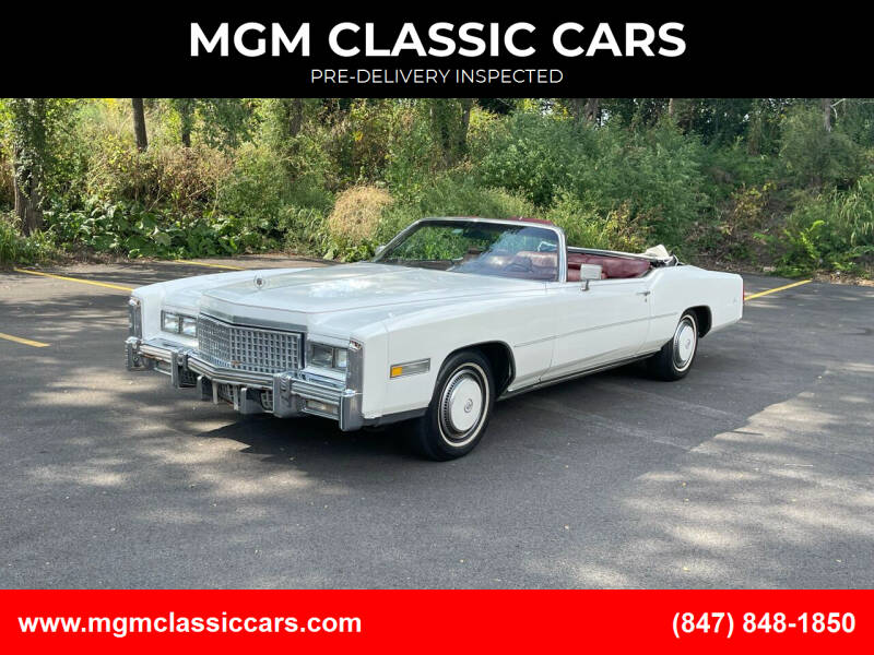 1975 Cadillac Eldorado for sale at MGM CLASSIC CARS-New Arrivals in Addison IL