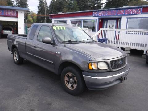 2001 Ford F-150 for sale at 777 Auto Sales and Service in Tacoma WA
