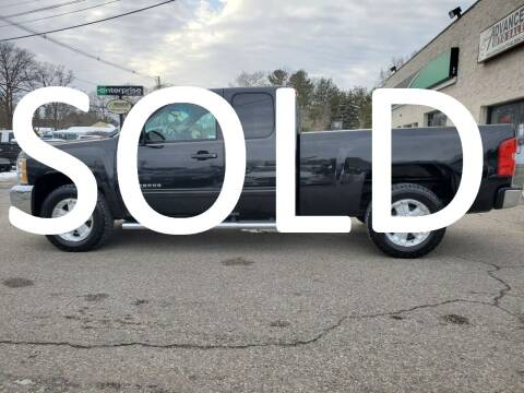 2012 Chevrolet Silverado 1500 for sale at Advanced Auto Sales in Tewksbury MA
