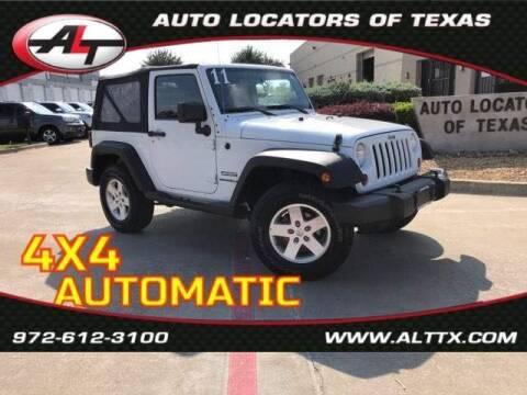 2011 Jeep Wrangler for sale at AUTO LOCATORS OF TEXAS in Plano TX