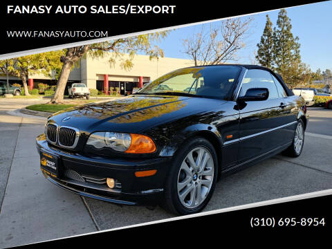 2002 BMW 3 Series for sale at FANASY AUTO SALES/EXPORT in Yorba Linda CA