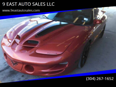 2001 Pontiac Firebird for sale at 9 EAST AUTO SALES LLC in Martinsburg WV