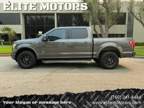 2015 Ford F-150 for sale at ELITE MOTORS in Victorville CA