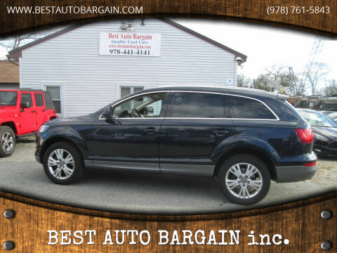 2011 Audi Q7 for sale at BEST AUTO BARGAIN inc. in Lowell MA