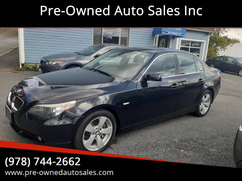 2006 BMW 5 Series for sale at Pre-Owned Auto Sales Inc in Salem MA