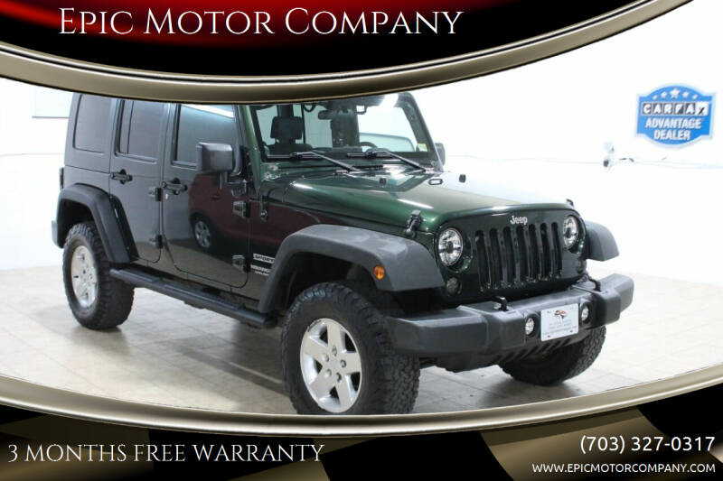 2010 Jeep Wrangler Unlimited for sale at Epic Motor Company in Chantilly VA