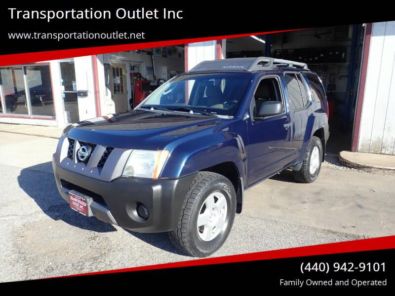 2007 Nissan Xterra for sale at Transportation Outlet Inc in Eastlake OH