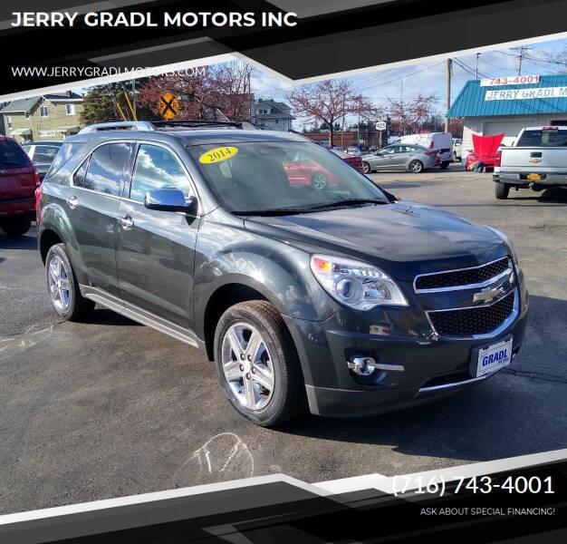 2014 Chevrolet Equinox for sale at JERRY GRADL MOTORS INC in North Tonawanda NY