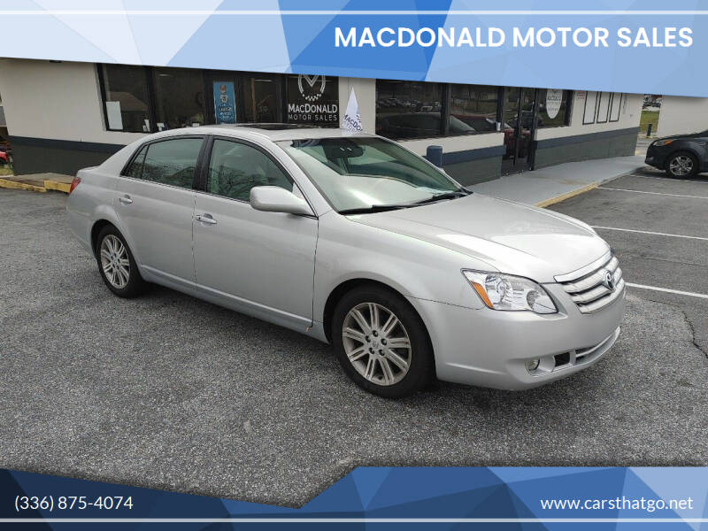 2006 Toyota Avalon for sale at MacDonald Motor Sales in High Point NC