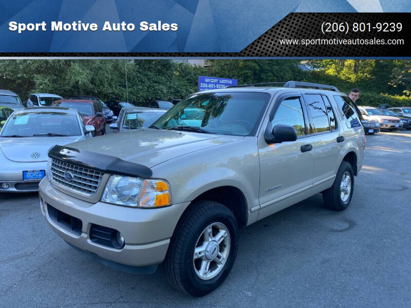 2005 Ford Explorer for sale at Sport Motive Auto Sales in Seattle WA