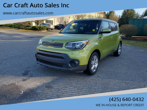 2018 Kia Soul for sale at Car Craft Auto Sales Inc in Lynnwood WA