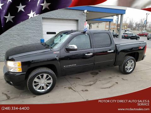 2011 Chevrolet Silverado 1500 for sale at Motor City Direct Auto Sales & Service in Pontiac MI