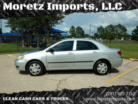2007 Toyota Corolla for sale at Moretz Imports, LLC in Spring TX
