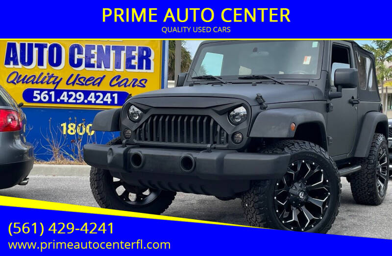 2007 Jeep Wrangler for sale at PRIME AUTO CENTER in Palm Springs FL