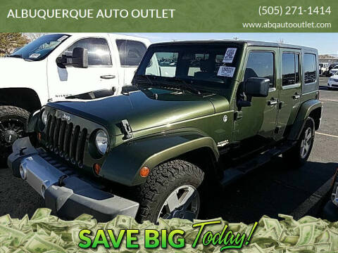 2008 Jeep Wrangler Unlimited for sale at ALBUQUERQUE AUTO OUTLET in Albuquerque NM