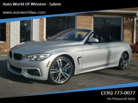 2015 BMW 4 Series for sale at Auto World Of Winston - Salem in Winston Salem NC