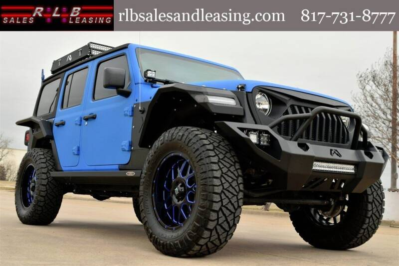 2018 Jeep Wrangler Unlimited for sale at RLB Sales and Leasing in Fort Worth TX