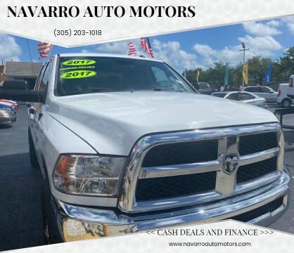 2017 RAM Ram Pickup 2500 for sale at Navarro Auto Motors in Hialeah FL