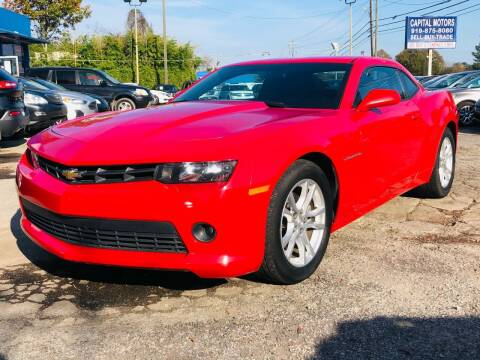 2015 Chevrolet Camaro for sale at Capital Motors in Raleigh NC