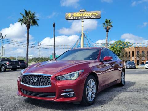 2015 Infiniti Q50 for sale at A MOTORS SALES AND FINANCE in San Antonio TX