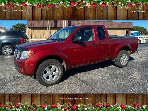 2013 Nissan Frontier for sale at Towell & Sons Auto Sales in Manila AR