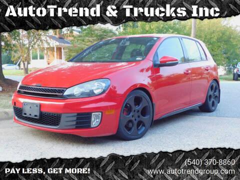 2010 Volkswagen GTI for sale at AutoTrend & Trucks Inc in Fredericksburg VA