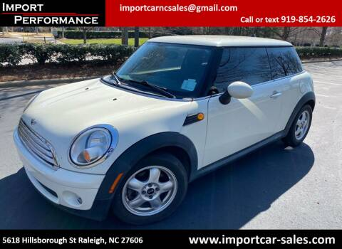 2010 MINI Cooper for sale at Import Performance Sales in Raleigh NC
