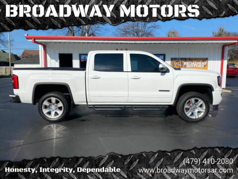 2017 GMC Sierra 1500 for sale at BROADWAY MOTORS in Van Buren AR