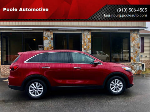2020 Kia Sorento for sale at Poole Automotive in Laurinburg NC