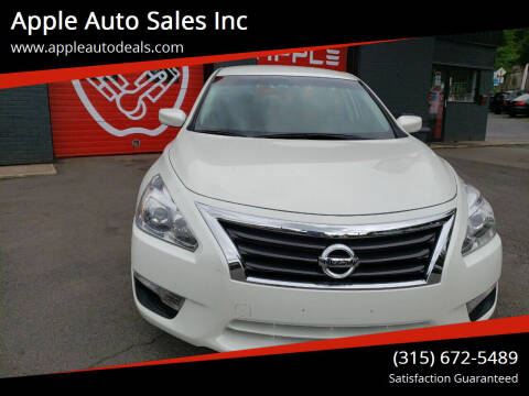 2015 Nissan Altima for sale at Apple Auto Sales Inc in Camillus NY