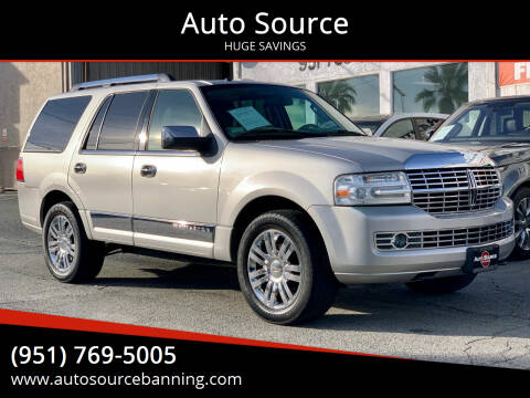 2007 Lincoln Navigator for sale at Auto Source in Banning CA