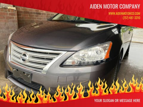 2013 Nissan Sentra for sale at Aiden Motor Company in Portsmouth VA