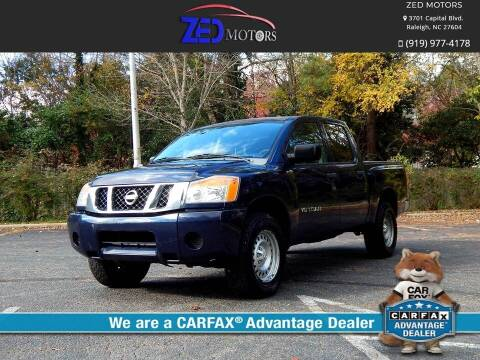 2009 Nissan Titan for sale at Zed Motors in Raleigh NC