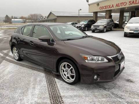 2012 Lexus CT 200h for sale at Osceola Auto Sales and Service in Osceola WI