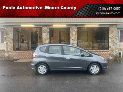 2013 Honda Fit for sale at Poole Automotive in Laurinburg NC