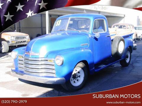 1953 Chevrolet C/K 3500 Series for sale at Suburban Motors in Tucson AZ