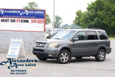 2007 Honda Pilot for sale at Alexander's Auto Sales in North Little Rock AR