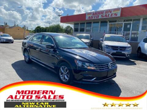 2017 Volkswagen Passat for sale at Modern Auto Sales in Hollywood FL