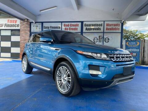 2012 Land Rover Range Rover Evoque for sale at ELITE AUTO WORLD in Fort Lauderdale FL