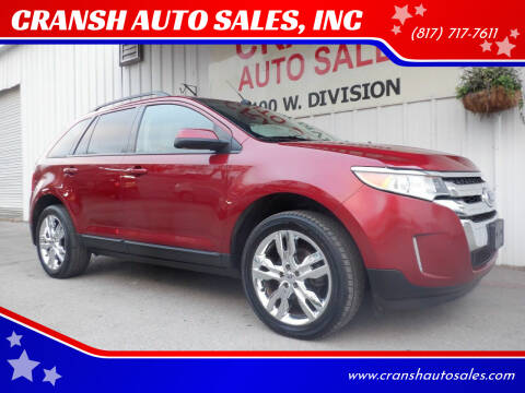 2013 Ford Edge for sale at CRANSH AUTO SALES, INC in Arlington TX