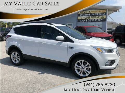 2018 Ford Escape for sale at My Value Car Sales - Upcoming Cars in Venice FL