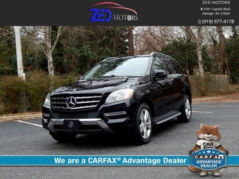 2013 Mercedes-Benz M-Class for sale at Zed Motors in Raleigh NC