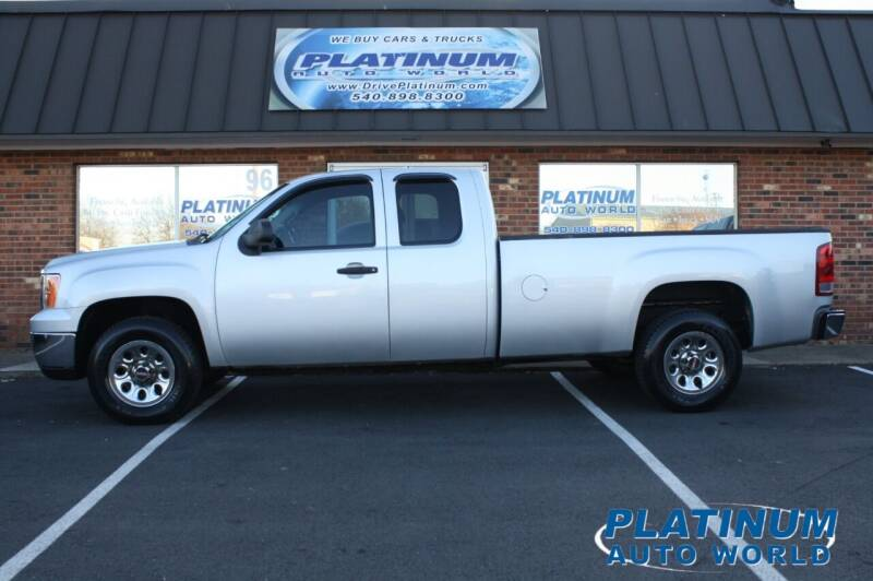 2012 GMC Sierra 1500 for sale at Platinum Auto World in Fredericksburg VA