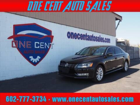 2013 Volkswagen Passat for sale at One Cent Auto Sales in Glendale AZ