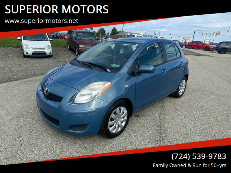 2010 Toyota Yaris for sale at SUPERIOR MOTORS in Latrobe PA