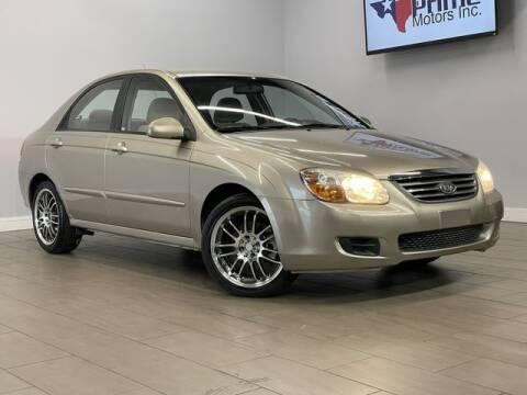2008 Kia Spectra for sale at Texas Prime Motors in Houston TX