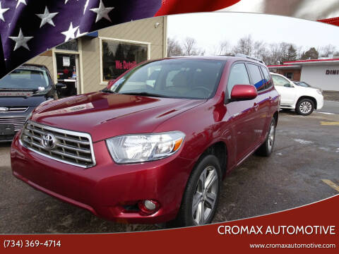 2009 Toyota Highlander for sale at Cromax Automotive in Ann Arbor MI